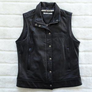 Women's Tommy Hilfiger Sleeveless 100% Leather L